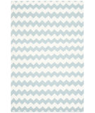 RugStudio presents Safavieh Dhurries Dhu644c Ivory - Blue Flat-Woven Area Rug