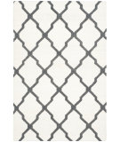 RugStudio presents Safavieh Dhurries Dhu645b Ivory - Charcoal Flat-Woven Area Rug
