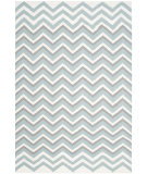 RugStudio presents Safavieh Dhurries Dhu646a Blue - White Woven Area Rug