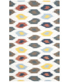 RugStudio presents Safavieh Dhurries Dhu648a Ivory - Multi Woven Area Rug