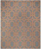 RugStudio presents Safavieh Dhurries DHU860B Blue / Orange Flat-Woven Area Rug