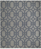 RugStudio presents Safavieh Dhurries DHU860C Grey / Dark Blue Flat-Woven Area Rug