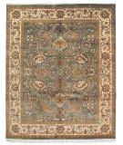 RugStudio presents Safavieh Dynasty DY244B Green / Ivory Hand-Knotted, Better Quality Area Rug