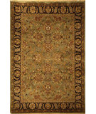 RugStudio presents Safavieh Dynasty DY253A Green / Black Hand-Knotted, Better Quality Area Rug