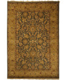 RugStudio presents Rugstudio Sample Sale 46673R Blue / Apricot Hand-Knotted, Better Quality Area Rug