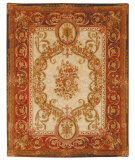 RugStudio presents Rugstudio Sample Sale 46677R Light Gold / Red Hand-Tufted, Best Quality Area Rug
