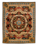 RugStudio presents Safavieh Empire EM418A Black / Blue Hand-Tufted, Best Quality Area Rug