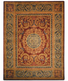 RugStudio presents Safavieh Empire EM421A Burgundy / Gold Hand-Tufted, Best Quality Area Rug