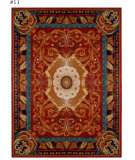 RugStudio presents Safavieh Empire EM424A Red / Burgundy Hand-Tufted, Best Quality Area Rug