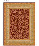 RugStudio presents Safavieh Empire EM425A Brown / Blue Hand-Tufted, Best Quality Area Rug