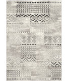 RugStudio presents Safavieh Evoke Evk407c Cream - Dark Grey Machine Woven, Good Quality Area Rug