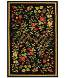 RugStudio presents Rugstudio Sample Sale 63136R Black Hand-Hooked Area Rug