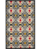 RugStudio presents Safavieh Four Seasons Frs417a Black / Ivory Hand-Hooked Area Rug