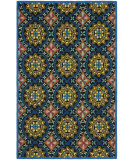 RugStudio presents Safavieh Four Seasons Frs426a Black / Blue Hand-Hooked Area Rug