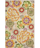 RugStudio presents Rugstudio Sample Sale 94430R Ivory / Green Hand-Hooked Area Rug