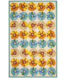 RugStudio presents Safavieh Four Seasons Frs469a Ivory / Blue Hand-Hooked Area Rug