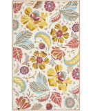 RugStudio presents Rugstudio Sample Sale 94438R Ivory / Grey Hand-Hooked Area Rug