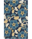 RugStudio presents Safavieh Four Seasons Frs492a Navy / Multi Hand-Hooked Area Rug