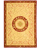 RugStudio presents Safavieh French Tapis FT224A Beige / Dark Red Hand-Tufted, Best Quality Area Rug