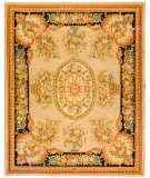 RugStudio presents Safavieh French Tapis FT225A Beige / Black Hand-Tufted, Best Quality Area Rug