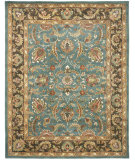 RugStudio presents Safavieh Heritage HG812B Blue / Brown Hand-Tufted, Better Quality Area Rug