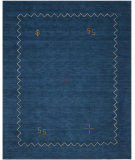 RugStudio presents Rugstudio Sample Sale 80592R Blue Hand-Knotted, Good Quality Area Rug