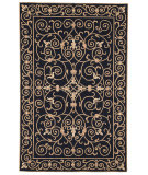 RugStudio presents Rugstudio Sample Sale 46347R Black Hand-Hooked Area Rug