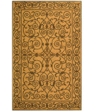 RugStudio presents Rugstudio Sample Sale 49886R Yellow / Light Green Hand-Hooked Area Rug