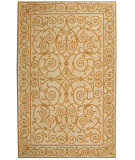 RugStudio presents Rugstudio Sample Sale 49888R Ivory / Gold Hand-Hooked Area Rug