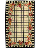 RugStudio presents Rugstudio Sample Sale 46352R Ivory / Black Hand-Hooked Area Rug