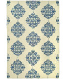 RugStudio presents Rugstudio Sample Sale 49896R Ivory / Blue Hand-Hooked Area Rug