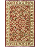 RugStudio presents Rugstudio Sample Sale 49899R Red / Ivory Hand-Hooked Area Rug