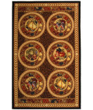 RugStudio presents Safavieh Chelsea HK16A Black / Brown Hand-Hooked Area Rug