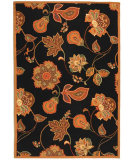 RugStudio presents Rugstudio Sample Sale 49908R Black / Orange Hand-Hooked Area Rug