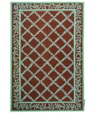 RugStudio presents Safavieh Chelsea HK230G Brown / Blue Hand-Hooked Area Rug