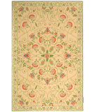 RugStudio presents Rugstudio Sample Sale 46412R Beige / Green Hand-Hooked Area Rug