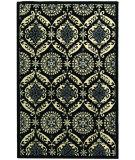 RugStudio presents Rugstudio Sample Sale 46417R Black / Ivory Hand-Hooked Area Rug