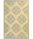 RugStudio presents Rugstudio Sample Sale 46420R Ivory / Blue Hand-Hooked Area Rug