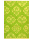 RugStudio presents Rugstudio Sample Sale 46421R Green / Beige Hand-Hooked Area Rug