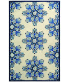 RugStudio presents Rugstudio Sample Sale 46422R Ivory / Blue Hand-Hooked Area Rug
