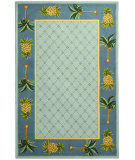 RugStudio presents Safavieh Chelsea HK362D Light Blue / Blue Hand-Hooked Area Rug