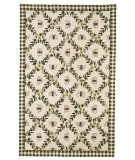 RugStudio presents Rugstudio Sample Sale 46441R Ivory / Green Hand-Hooked Area Rug