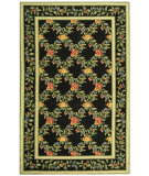 RugStudio presents Rugstudio Sample Sale 49987R Black Hand-Hooked Area Rug