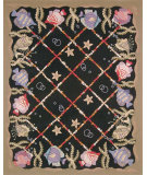 RugStudio presents Safavieh Chelsea HK61A Black Hand-Hooked Area Rug