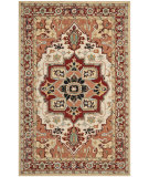 RugStudio presents Safavieh Chelsea HK709A Red / Ivory Hand-Hooked Area Rug