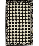 RugStudio presents Rugstudio Sample Sale 46457R Black / Ivory Hand-Hooked Area Rug