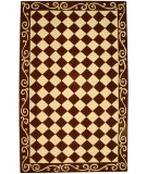 RugStudio presents Safavieh Chelsea HK711B Brown / Ivory Hand-Hooked Area Rug