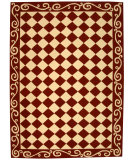 RugStudio presents Rugstudio Sample Sale 49995R Burgundy / Ivory Hand-Hooked Area Rug