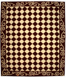 RugStudio presents Rugstudio Sample Sale 46459R Burgundy / Ivory Hand-Hooked Area Rug