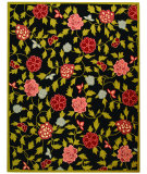 RugStudio presents Safavieh Chelsea HK714B Black / Green Hand-Hooked Area Rug